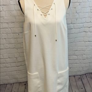 Charming Charlie's  White Sleeveless Dress